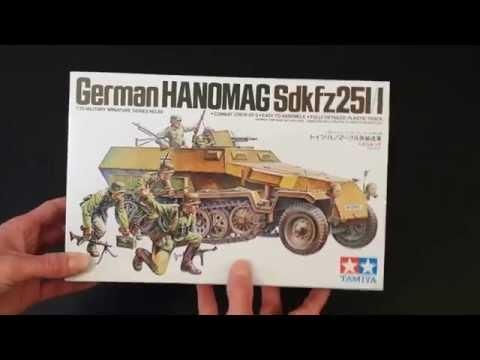 Maquette Neuve TAMIYA 1/35 CHAR German HANOMAG Sdkfz 251/1ouvert pour photos