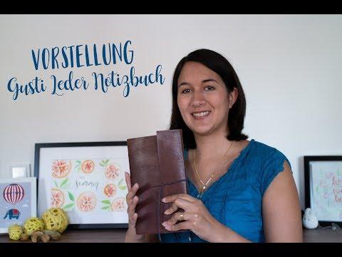 Vorstellung Gusti Leder Notizbuch mit Lettering