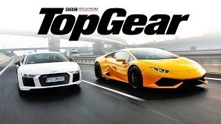 Audi R8 V10 vs Lamborghini Huracan | TEST | TopGear Polska