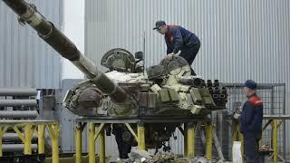 Разбор башни танка Т-72