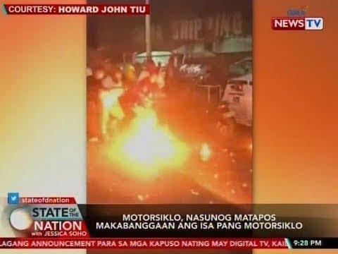 [GMA]  SONA: Motorsiklo, nasunog matapos makabanggaan ang isa pang motorsiklo