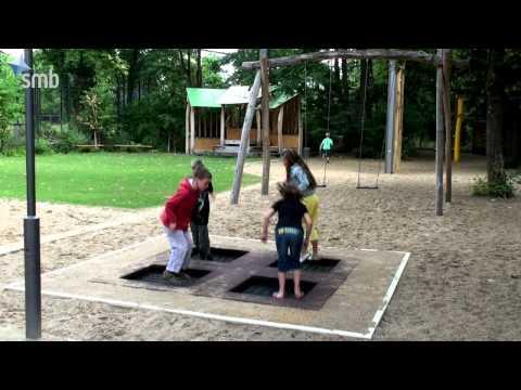 Trampolines y camas elásticas de exterior para parques, escuelas, campings - HPC Ibérica