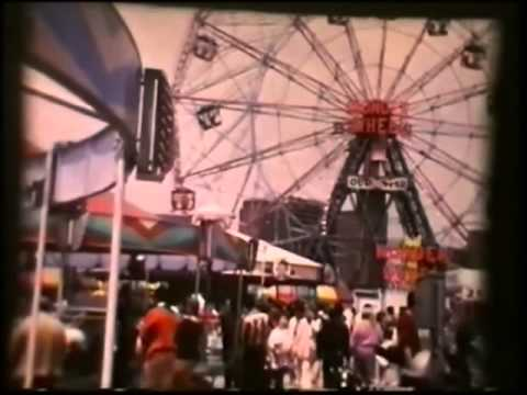 Old Coney Island Rides & Beach Home Movie 1970