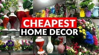 Wholesale/Retail Market of Artificial Flowers | Cheapest Home Decor- Plants, Pots | Sadar Bazar