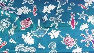 Kain Batik Tulis Motif Biota Laut