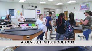 Abbeville High School tour