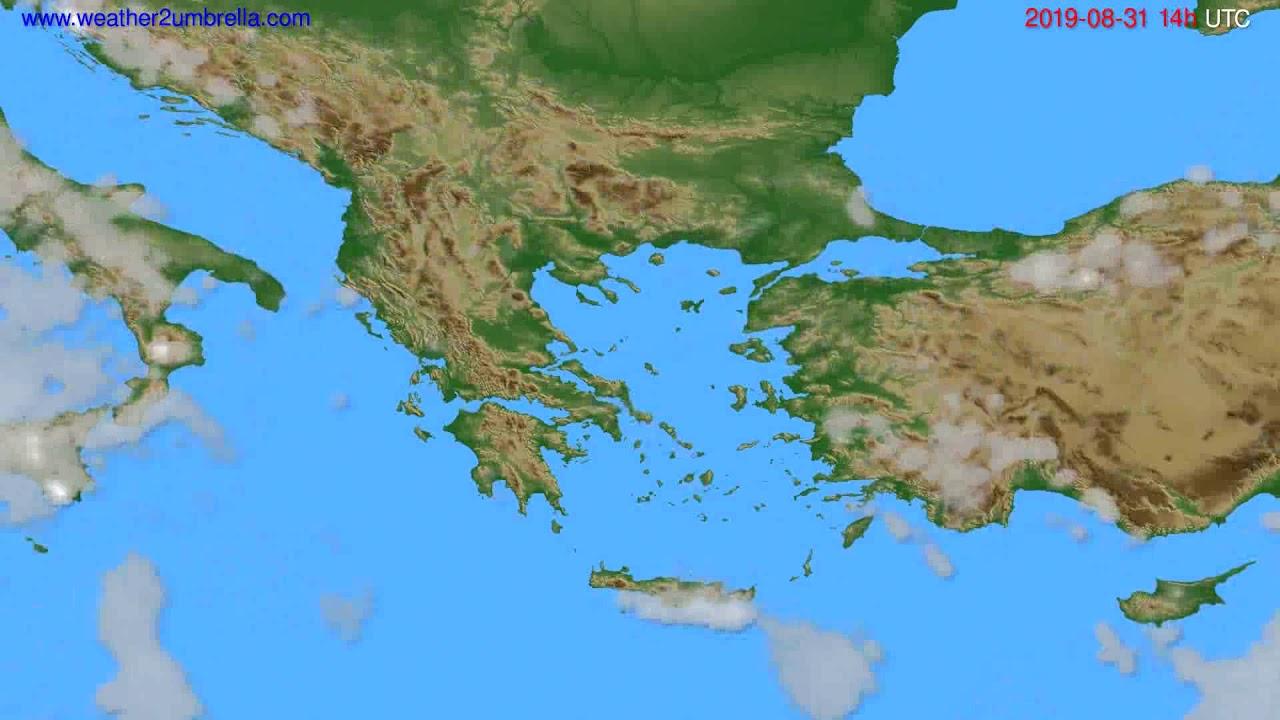 Cloud forecast Greece // modelrun: 00h UTC 2019-08-29