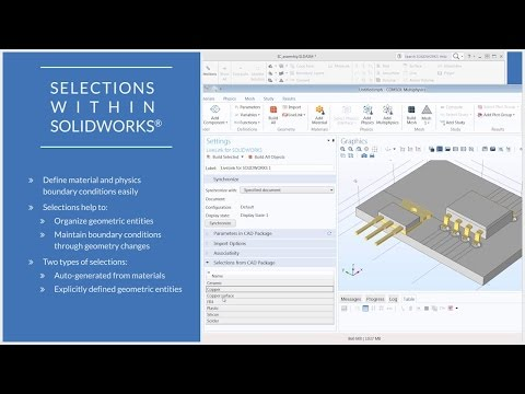 How to Use COMSOL Multiphysics® Selections in the ... - YouTube