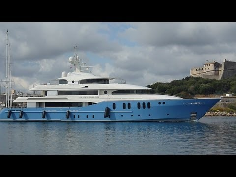 "SUPER YACHT SILVER SHALIS 2013 ""expensive and luxurious"" french travel trip"