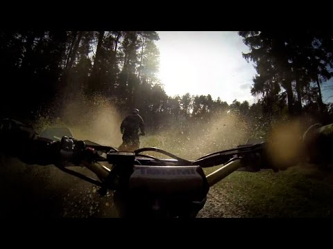 Enduro riding Yamaha WR450F + KTM SXC 625 + KTM EXC 520 [GoPro]