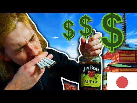 Cost of Tobacco, Alcohol and Gas in Japan(2018)
