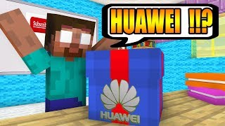 Monster School : FREE GIFT FROM HUAWEI - Minecraft Animation