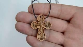 Нательный трехлистный деревянный крест от компании Іконна лавка - видео