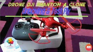 Dji Phantom 4 clone unboxing Dan tes terbang