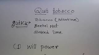 How to quit gutka/tobacco addiction!