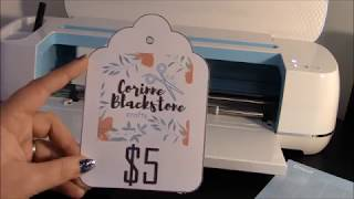 making print and cut tags with your cricut and design space