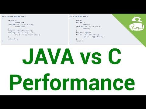 Java vs C app performance – Gary explains