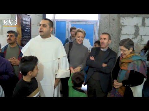 Première visite des pèlerins aux réfugiés d'Ain Kawa