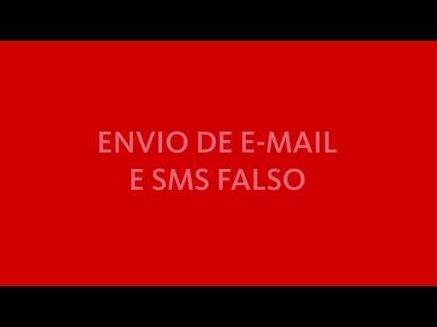 Envio de email e SMS falsos