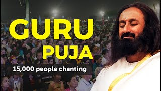 15,000 People Chanting Guru Puja | World Culture Festival 2016