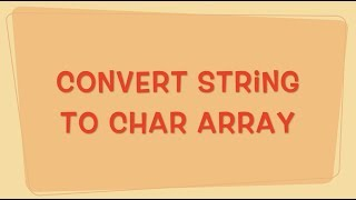 Convert String to Char Array in Java