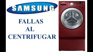 Fallas al centrifugar lavadoras samsung