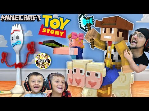 MINECRAFT TOY STORY 4 w/ FGTEEV Boys!  Forky ♥️ Trash Skit / Gameplay