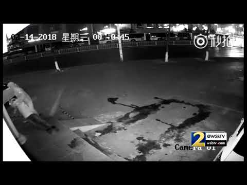 RAW VIDEO: Suspect knocks out partner in crime during attempted break-in