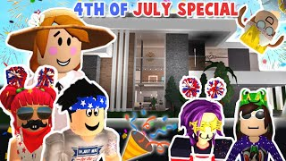 BLOXBURG MOTHER OF 4 KIDS... 4th OF JULY SPECIAL IN OUR NEW MANSION!