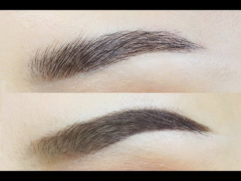 Natural Brushed Up Brows VS Defined Thick Brows