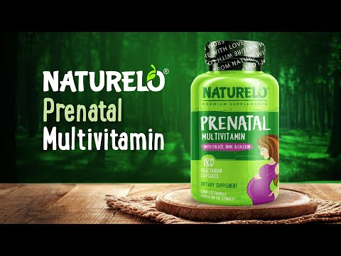 NATURELO, 產前多維生素,180 粒素食膠囊