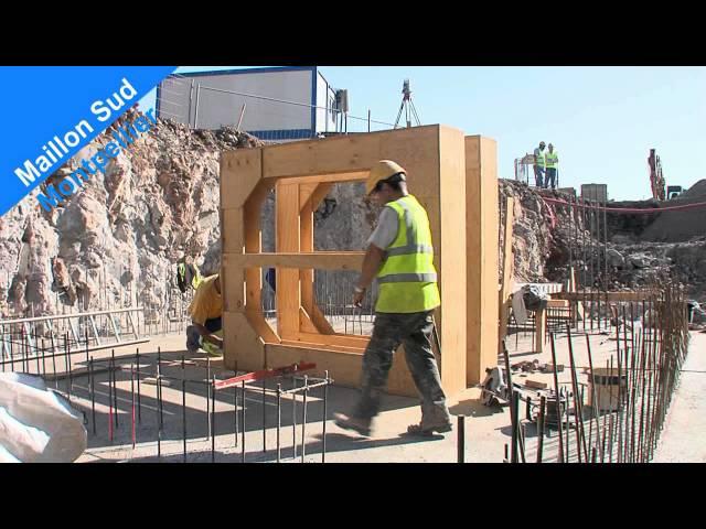 Construction des réservoirs de Laroque