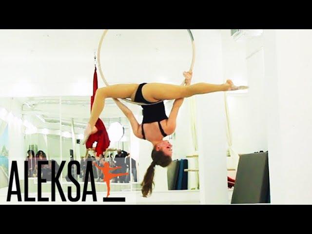 Танец на воздушном кольце - воздушная гимнастика (акробатика) - Олеся Хмиляр