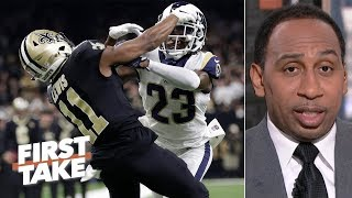 NFL's pass interference rule change better not further delay games - Stephen A. | First Take
