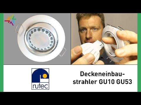 Deckeneinbaustrahler GU5.3/GU10 für LED und Halogen [watt24-Video Nr. 104]