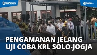 Pengamanan Super Ketat di Stasiun Klaten, Jelang Presiden Jokowi Uji Coba KRL Jogja-Solo