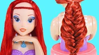 Peinados Para Ariel 💇 3 Peinados con Trenzas Para Tus Muñecas Faciles y Lindos Peinados