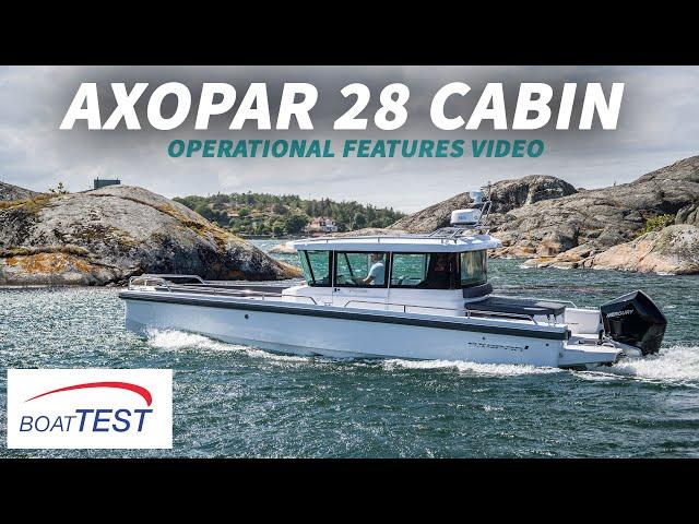 Axopar 28 Cabin (2019-) Test Video - By BoatTEST.com