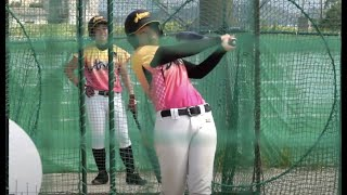 真夏! 明るい 元気な 女子硬式野球部 球場練習編 バッティング④