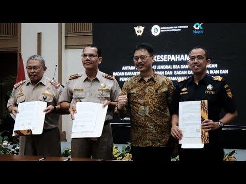 Nota Kesepahaman Sinergi Pelayanan Bea Cukai dan Karantina