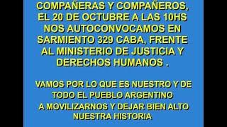 MANIFESTACION NACIONAL DE EX PRESOS POLITICOS ARGENTINOS