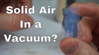 What Happens When You Put Aerogel In A Vacuum Chamber And Hydraulic Press?