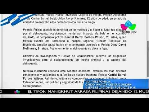 La Policía Nacional informa sobre asesinato de compañero policía en Laguna de Perlas