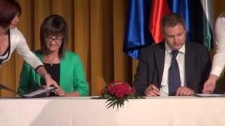 Podpis sofinancerskih pogodb, pomurski vodovod - sistem C
