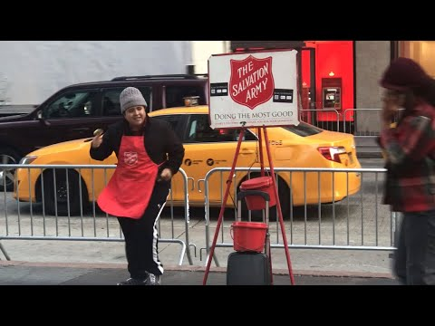 Best Salvation Army Kettle Bell Ringer Ever - NYC Mp3