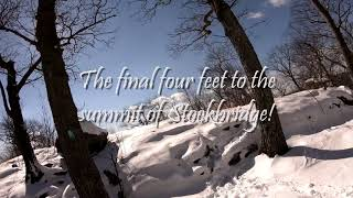 Video from the Stockbridge Mountain Hike 2/18/18.  Can be a little slippery at times, microspikes suggested for the steeper hills.;)