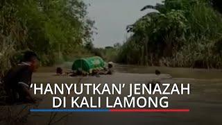 Belum Ada Jembatan, Warga Gorekan Lor Gresik Terpaksa 'Hanyutkan' Jenazah di Kali Lamong