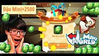 Mini World: Mở quà Code đậu mini của nhà phát hành game   Phong Cận tv