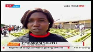 Police having a hard time trying to contain large crowds of voters in Embakasi South
