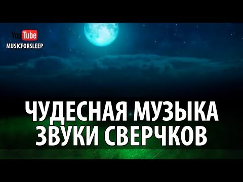 Чудесная Музыка Для Сна. Усыпляющие Звуки Сверчков